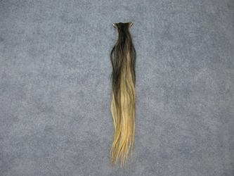 Tanned Horse Tail: Blonde & Black