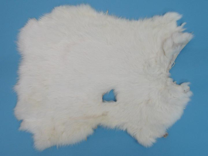 Cut-Up Rabbit Skin: White