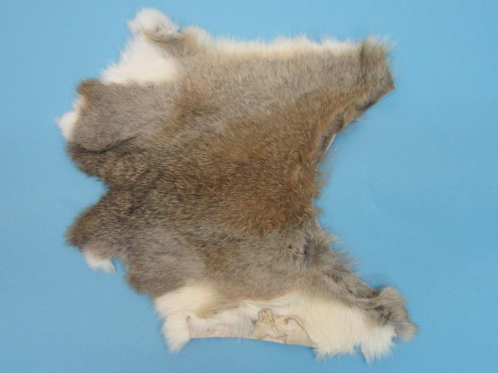 Poubelle Rabbit Skin: Mixed Natural Colors