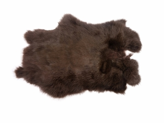 Dyed Rabbt Skin: Chocolate Brown