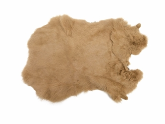 Dyed Rabbt Skin: Light Brown
