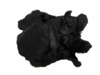 Dyed Rabbt Skin: Black
