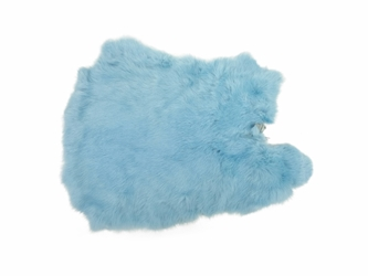 Dyed Rabbt Skin: Baby Blue