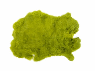 Dyed Rabbt Skin: Army Green