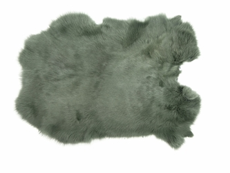 Dyed Rabbt Skin: Gray