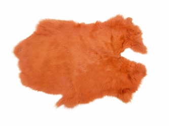 Dyed Rabbt Skin: Orange