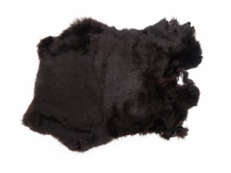 Dyed Rabbt Skin: Dark Brown