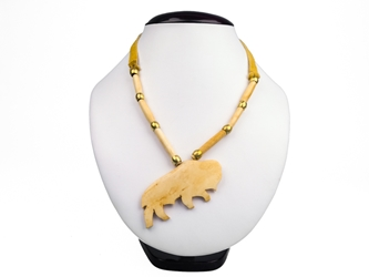 Iroquois Bone Buffalo Necklace