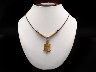 Iroquois Mini Bone Turtle Necklace
