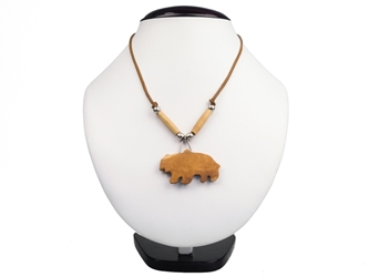 Iroquois Mini Bone Bear Necklace