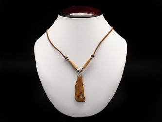 Iroquois Mini Bone Coyote/Wolf Necklace