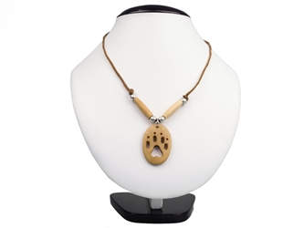 Iroquois Mini Bone Wolf Track Necklace