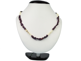 Ojibwa Corn & Quill Necklace