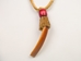 Ojibwa Large Beaver Tooth Necklace - 200-402 (N14)