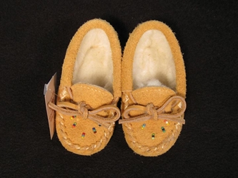 Huron Baby Cow Suede Leather Moccasins cow suede moccasins, cow moccasins