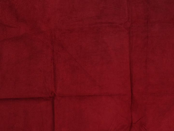 Pig Suede Leather: Tannery Run: Red (sq ft)