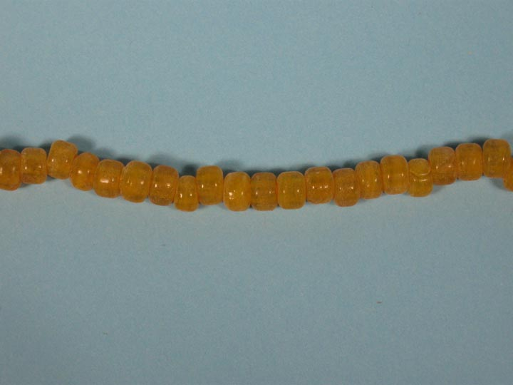 9mm Crow Beads: Translucent Yellow (kg) glass beads