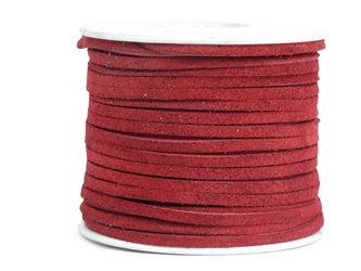 "Suede Lacing 1/8"": Red"