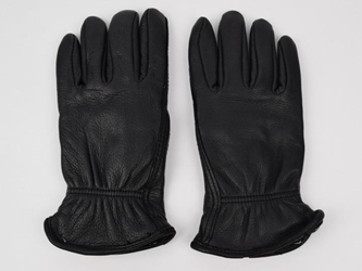 Black Ladies Deerskin Gloves deer leather gloves