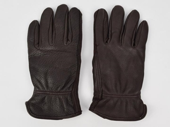 Brown Ladies Deerskin Gloves deer leather gloves