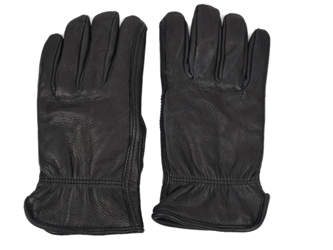 Black Mens Deerskin Gloves deer leather gloves