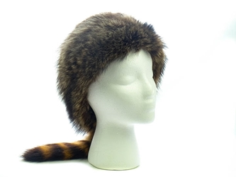 "Real Davy Crockett Hat: 24.5"" davy crockett hats, raccoon fur hats"