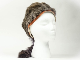"Trading Post Davy Crockett Hat with 4"" band davy crockett hats, rabbit fur hats"