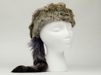 "Trading Post Davy Crockett Hat with 3"" band davy crockett hats, rabbit fur hats"