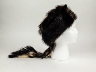 Real Skunk Fur Hat skunk hats, skunk fur hats