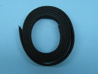 "Suede Strip: 1/2""x36"": Black"