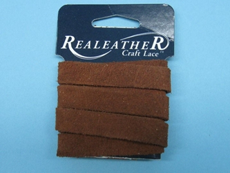 "Suede Strip: 1/2""x36"": Medium Brown"