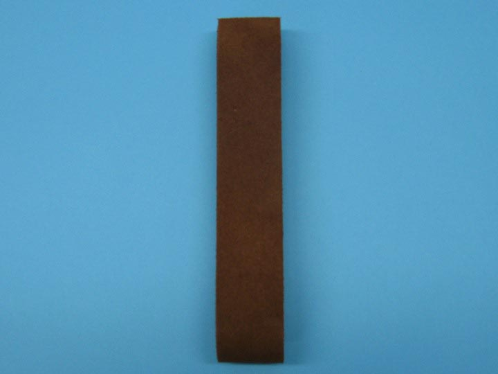 "Suede Strip: 1 1/2""x42"": Medium Brown"