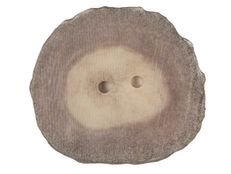 Cross-Cut 2-Hole Moose Antler Button: 1.5-2.0""