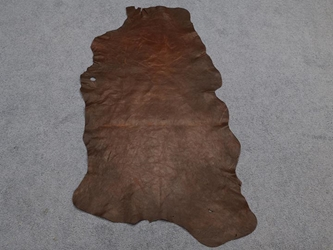 Distressed Goat Leather: Full Grain: Natural (sq ft)