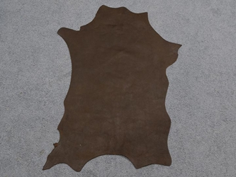 Distressed Goat Leather: Pull-up: Buffed: Natural (sq ft)