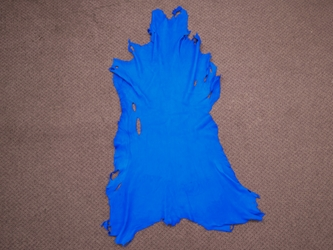 Deerskin Leather: #1/#2: Royal Blue (sq ft)