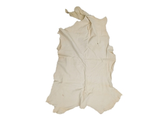 Deerskin Leather: #1/#2: White (sq ft)