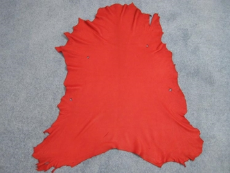 Deerskin Leather: Craft: Red (sq ft)