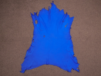 Garment Deerskin Leather: Roayl Blue (sq ft)