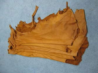Garment Deerskin Leather: Tobacco (sq ft)