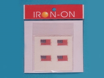 U.S. Flag: Stick-On: 4 pack Badge