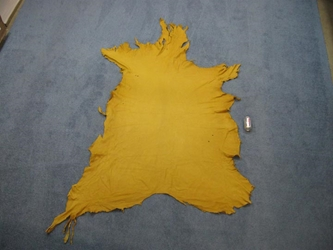 Elk Leather: #1: Prairie Gold (sq ft)