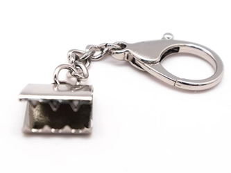 Silver Snapback Keychain: Large keychains