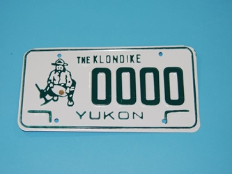 Yukon/Klondike License Plate: Assorted