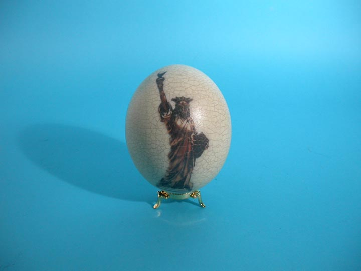 Decoupage Egg: USA Eagle / Statue of Liberty
