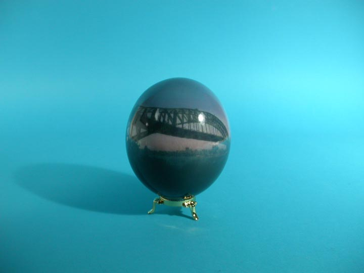 Decoupage Egg: USA Eagle / Bridge