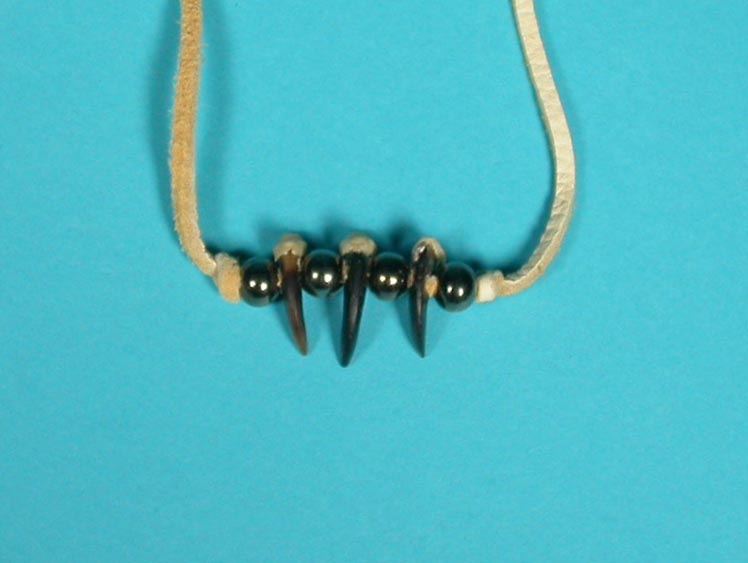 Real 3-Claw Coyote Necklace