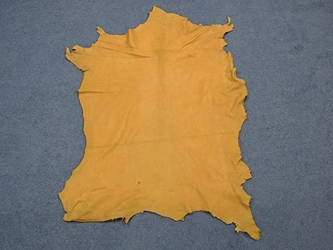 ~4.5-5 oz Heavy Tannery Run #1 Sheep Leather: Prairie Gold (sq ft)