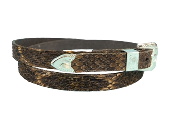 "3/8"" Western Style Real Rattlesnake Hat Band"