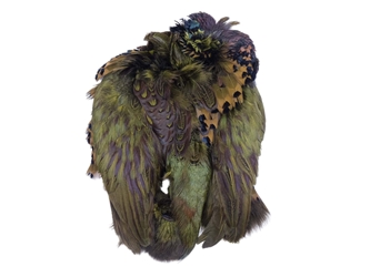 Dyed Ringneck Pheasant Skin: #2: Olive Green